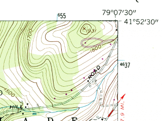 Reduced fragment of topographic map en--usgs--024k--047515--(1954)--N041-52-30_W079-15-00--N041-45-00_W079-07-30; towns and cities Warren, Warren South