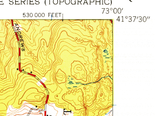 Reduced fragment of topographic map en--usgs--024k--047655--(1955)--N041-37-30_W073-07-30--N041-30-00_W073-00-00; towns and cities Waterbury, Oakville