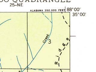 Reduced fragment of topographic map en--usgs--024k--047671--(1936)--N035-00-00_W088-07-30--N034-52-30_W088-00-00; towns and cities Waterloo