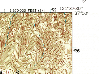 Reduced fragment of topographic map en--usgs--024k--047727--(1955)--N037-00-00_W121-45-00--N036-52-30_W121-37-30; towns and cities Interlaken, Pajaro, Aromas