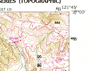 Reduced fragment of topographic map en--usgs--024k--047728--(1954)--N037-00-00_W121-52-30--N036-52-30_W121-45-00; towns and cities Watsonville, Freedom, Aptos Hills-larkin Valley, Corralitos