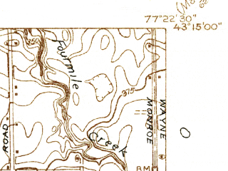 Reduced fragment of topographic map en--usgs--024k--047917--(1932)--N043-15-00_W077-30-00--N043-07-30_W077-22-30; towns and cities Webster