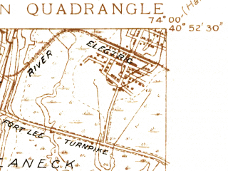 Reduced fragment of topographic map en--usgs--024k--047945--(1935)--N040-52-30_W074-07-30--N040-45-00_W074-00-00; towns and cities Union City, Kearny, West New York, North Bergen, Rutherford