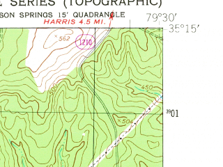 Reduced fragment of topographic map en--usgs--024k--048177--(1949)--N035-15-00_W079-37-30--N035-07-30_W079-30-00; towns and cities Foxfire