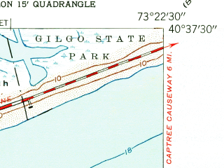 Reduced fragment of topographic map en--usgs--024k--048192--(1954)--N040-37-30_W073-30-00--N040-30-00_W073-22-30