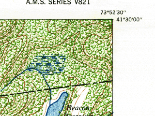 Reduced fragment of topographic map en--usgs--024k--048325--(1947)--N041-30-00_W074-00-00--N041-22-30_W073-52-30; towns and cities West Point, Cold Spring, Nelsonville
