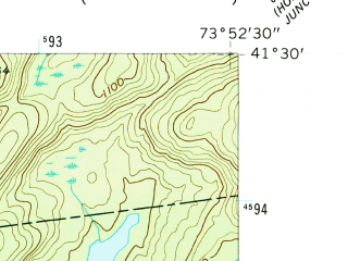 Reduced fragment of topographic map en--usgs--024k--048325--(1957)--N041-30-00_W074-00-00--N041-22-30_W073-52-30; towns and cities West Point, Cold Spring, Nelsonville