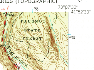Reduced fragment of topographic map en--usgs--024k--048356--(1956)--N041-52-30_W073-15-00--N041-45-00_W073-07-30; towns and cities Torrington