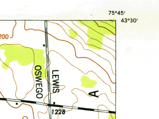 Reduced fragment of topographic map en--usgs--024k--048380--(1946)--N043-30-00_W075-52-30--N043-22-30_W075-45-00
