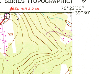 Reduced fragment of topographic map en--usgs--024k--048706--(1949)--N039-30-00_W076-30-00--N039-22-30_W076-22-30; towns and cities Perry Hall, White Marsh, Pleasant Hills, Kingsville