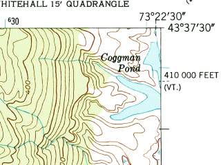 Reduced fragment of topographic map en--usgs--024k--048806--(1950)--N043-37-30_W073-30-00--N043-30-00_W073-22-30; towns and cities Whitehall
