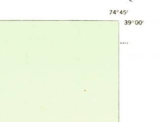 Reduced fragment of topographic map en--usgs--024k--049084--(1944)--N039-00-00_W074-52-30--N038-52-30_W074-45-00; towns and cities Wildwood, Wildwood Crest