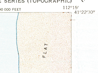 Reduced fragment of topographic map en--usgs--024k--049132--(1955)--N041-22-30_W112-22-30--N041-15-00_W112-15-00