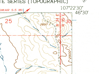 Reduced fragment of topographic map en--usgs--024k--049225--(1960)--N045-52-30_W111-45-00--N045-45-00_W111-37-30