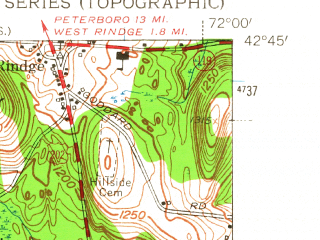 Reduced fragment of topographic map en--usgs--024k--049372--(1954)--N042-45-00_W072-07-30--N042-37-30_W072-00-00; towns and cities Winchendon