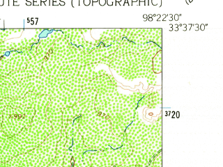 Reduced fragment of topographic map en--usgs--024k--049431--(1962)--N033-37-30_W098-30-00--N033-30-00_W098-22-30; towns and cities Windthorst