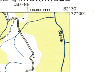 Reduced fragment of topographic map en--usgs--024k--049586--(1935)--N037-00-00_W082-37-30--N036-52-30_W082-30-00; towns and cities Wise