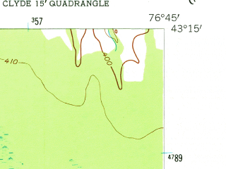 Reduced fragment of topographic map en--usgs--024k--049626--(1953)--N043-15-00_W076-52-30--N043-07-30_W076-45-00; towns and cities Wolcott