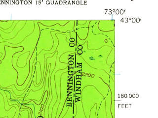 Reduced fragment of topographic map en--usgs--024k--049754--(1954)--N043-00-00_W073-07-30--N042-52-30_W073-00-00