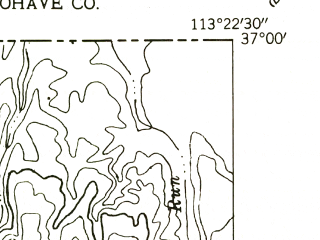 Reduced fragment of topographic map en--usgs--024k--050086--(1954)--N037-00-00_W113-30-00--N036-52-30_W113-22-30