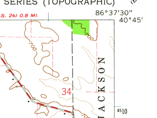 Reduced fragment of topographic map en--usgs--024k--050096--(1962)--N040-45-00_W086-45-00--N040-37-30_W086-37-30; towns and cities Yeoman