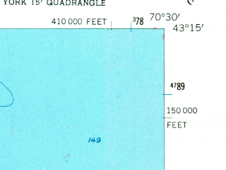 Reduced fragment of topographic map en--usgs--024k--050124--(1956)--N043-15-00_W070-37-30--N043-07-30_W070-30-00; towns and cities Cape Neddick