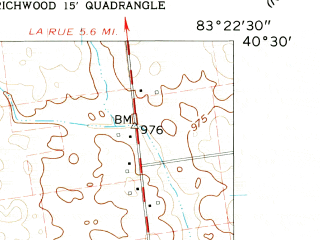Reduced fragment of topographic map en--usgs--024k--050125--(1961)--N040-30-00_W083-30-00--N040-22-30_W083-22-30