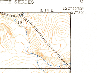Reduced fragment of topographic map en--usgs--024k--050148--(1948)--N037-30-00_W120-30-00--N037-22-30_W120-22-30