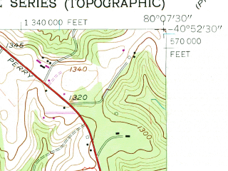 Reduced fragment of topographic map en--usgs--024k--050229--(1958)--N040-52-30_W080-15-00--N040-45-00_W080-07-30; towns and cities Zelienople