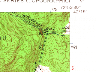 Reduced fragment of topographic map en--usgs--024k--069385--(1955)--N042-15-00_W073-00-00--N042-07-30_W072-52-30