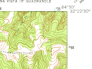 Reduced fragment of topographic map en--usgs--024k--069483--(1955)--N032-22-30_W084-37-30--N032-15-00_W084-30-00; towns and cities Buena Vista