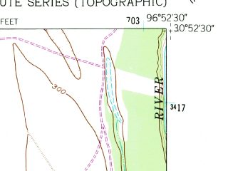 Reduced fragment of topographic map en--usgs--024k--069530--(1961)--N030-52-30_W097-00-00--N030-45-00_W096-52-30; towns and cities Cameron