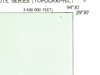 Reduced fragment of topographic map en--usgs--024k--069546--(1943)--N029-30-00_W094-37-30--N029-22-30_W094-30-00
