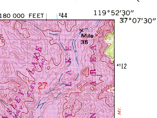 Reduced fragment of topographic map en--usgs--024k--069825--(1962)--N037-07-30_W120-00-00--N037-00-00_W119-52-30