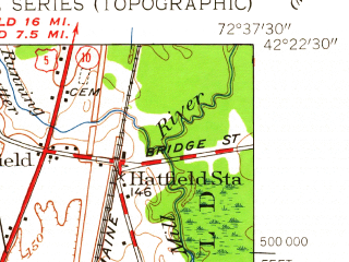 Reduced fragment of topographic map en--usgs--024k--069958--(1948)--N042-22-30_W072-45-00--N042-15-00_W072-37-30; towns and cities Northampton