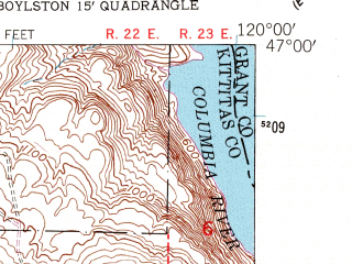 Reduced fragment of topographic map en--usgs--024k--070181--(1953)--N047-00-00_W120-07-30--N046-52-30_W120-00-00