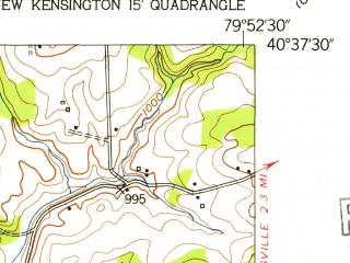Reduced fragment of topographic map en--usgs--024k--070194--(1953)--N040-37-30_W080-00-00--N040-30-00_W079-52-30; towns and cities Shaler Township, Fox Chapel