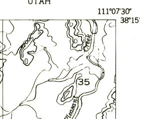 Reduced fragment of topographic map en--usgs--024k--070204--(1952)--N038-15-00_W111-15-00--N038-07-30_W111-07-30
