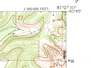 Reduced fragment of topographic map en--usgs--024k--070796--(1960)--N040-45-00_W081-15-00--N040-37-30_W081-07-30 in area of Lake Mohawk; towns and cities Malvern