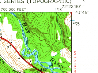 Reduced fragment of topographic map en--usgs--024k--070819--(1953)--N041-45-00_W072-30-00--N041-37-30_W072-22-30; towns and cities Terramuggus