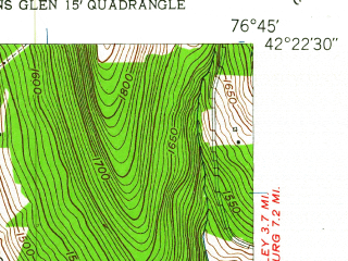 Reduced fragment of topographic map en--usgs--024k--070947--(1961)--N042-22-30_W076-52-30--N042-15-00_W076-45-00; towns and cities Odessa, Millport, Montour Falls