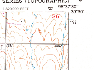 Reduced fragment of topographic map en--usgs--024k--071136--(1953)--N039-30-00_W098-45-00--N039-22-30_W098-37-30; towns and cities Osborne