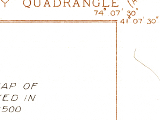 Reduced fragment of topographic map en--usgs--024k--071339--(1936)--N041-07-30_W074-15-00--N041-00-00_W074-07-30; towns and cities Suffern, Oakland, Ramsey, Allendale, Franklin Lakes