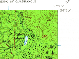 Reduced fragment of topographic map en--usgs--024k--071506--(1954)--N034-15-00_W117-22-30--N034-07-30_W117-15-00; towns and cities San Bernardino, Crestline, Muscoy