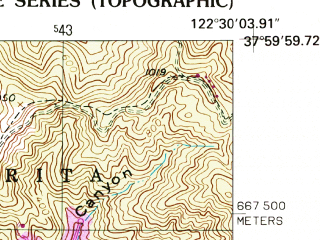 Reduced fragment of topographic map en--usgs--024k--071511--(1954)--N038-00-00_W122-37-30--N037-52-30_W122-30-00; towns and cities San Rafael, Larkspur, Mill Valley, San Anselmo, Tamalpais-homestead Valley
