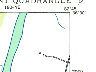 Reduced fragment of topographic map en--usgs--024k--071732--(1935)--N036-30-00_W082-52-30--N036-22-30_W082-45-00; towns and cities Surgoinsville