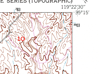 Reduced fragment of topographic map en--usgs--024k--071785--(1950)--N035-15-00_W119-30-00--N035-07-30_W119-22-30; towns and cities Taft, Ford City, South Taft, Taft Heights