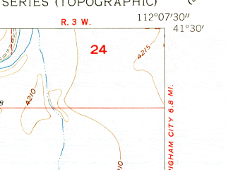 Reduced fragment of topographic map en--usgs--024k--072041--(1954)--N041-30-00_W112-15-00--N041-22-30_W112-07-30