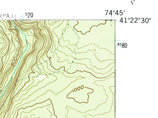Reduced fragment of topographic map en--usgs--024k--076567--(1958)--N041-22-30_W074-52-30--N041-15-00_W074-45-00; towns and cities Milford