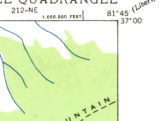 Reduced fragment of topographic map en--usgs--024k--076624--(1935)--N037-00-00_W081-52-30--N036-52-30_W081-45-00; towns and cities Saltville